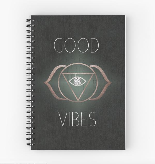 Good Vibes 3rd eye spiritual notebook