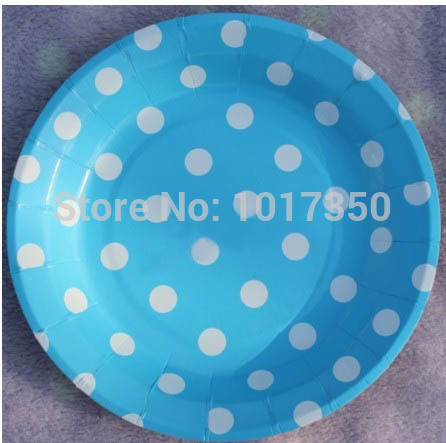 24pcs 7inch Free Shipping light blue white polka dots Round Paper Plates Party Dessert Paper Dishes Wedding christmas decoration - Jennifer Caminiti Photo + ... & 24pcs 7inch Free Shipping light blue white polka dots Round Paper ...