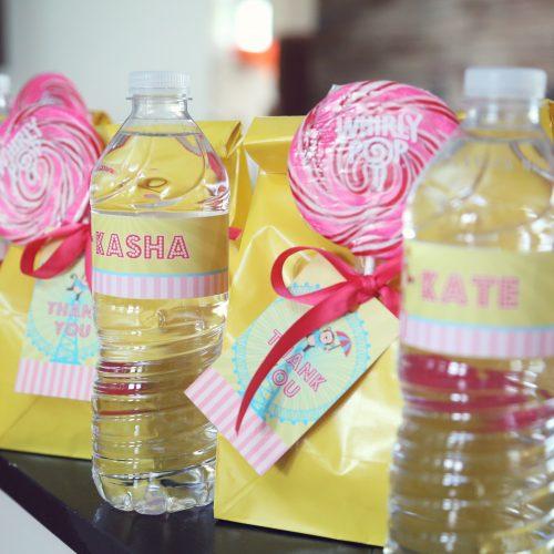 carnival water bottle labels