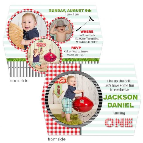 gingham barbecue invite