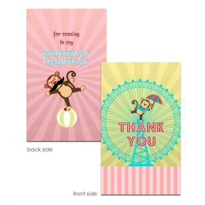 carnival thank you card