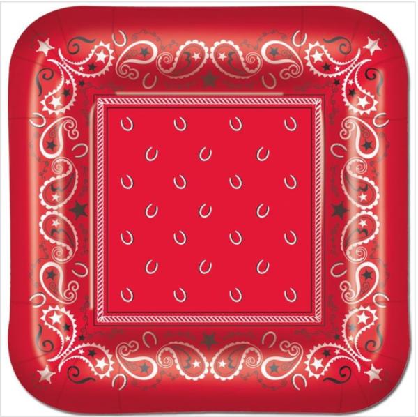 red bandana plate