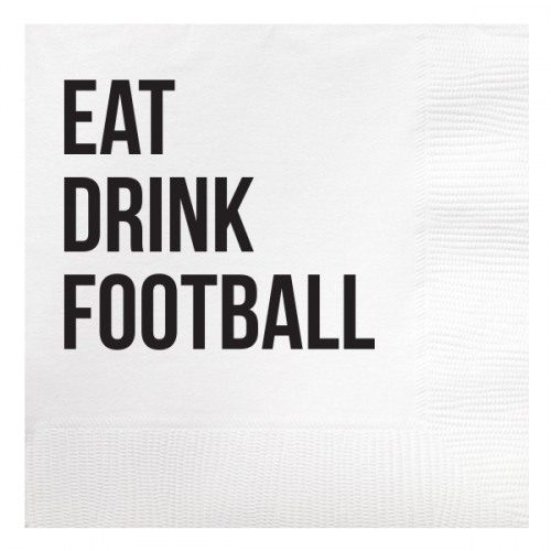 eat drink football napkin