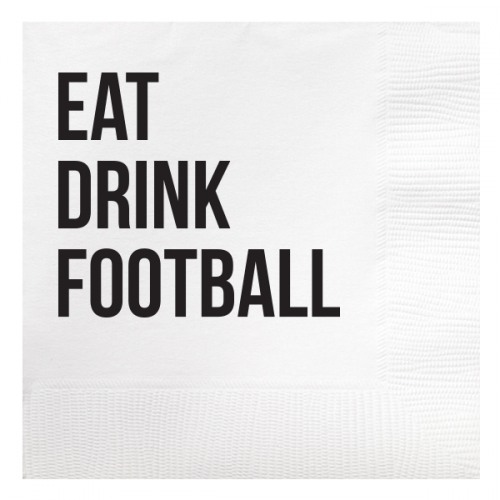 eat drink football napkin