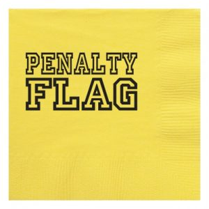 penalty flag napkin
