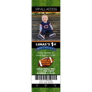 2x7 football ticket invitation