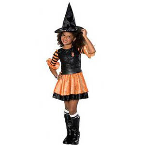 orange brats witch costume
