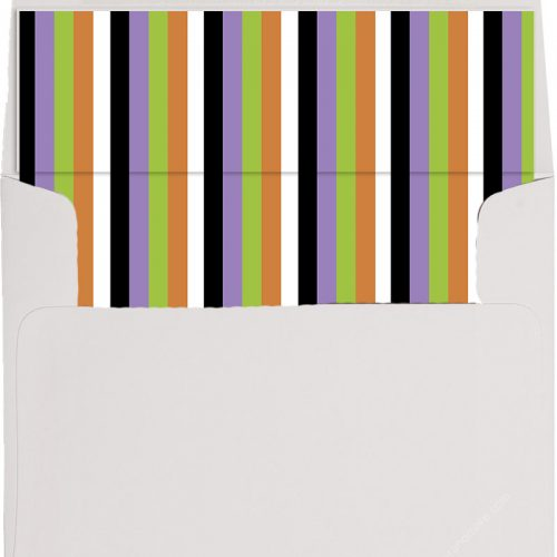Halloween stripe envelope liner