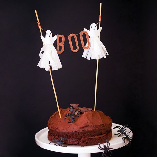 ghost boo cake topper