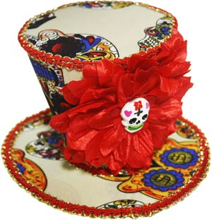 day of the dead mini hat