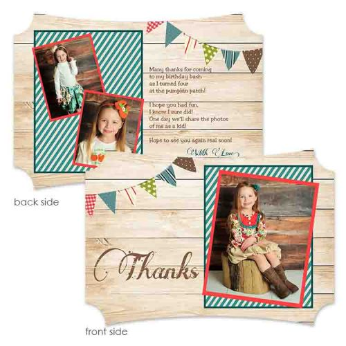 fall banner thank you card