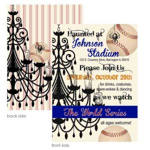 world series halloween party invitation
