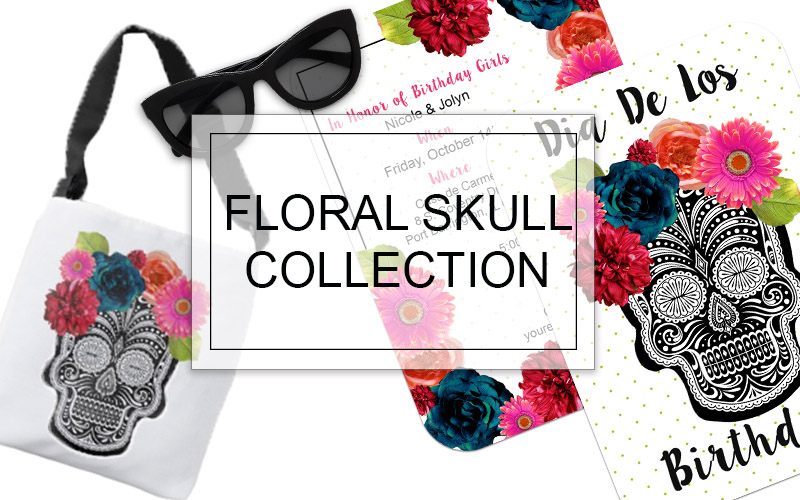 floral skull collection