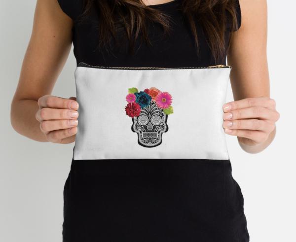 sugar skull pouch