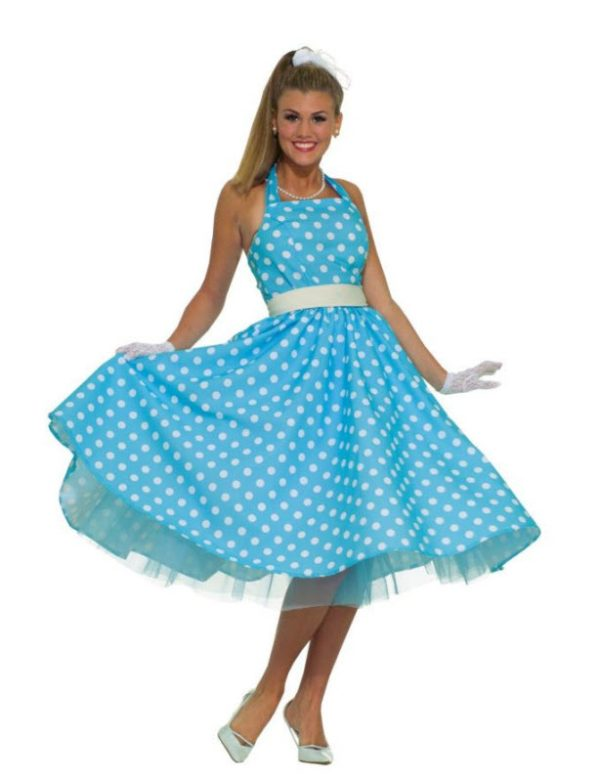 polka dot 50's dress
