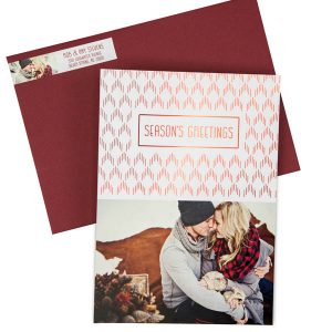 Foil Pressed Flat Holiday Greeting Cards