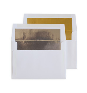 Silver Lined and Gold Lined Envelopes