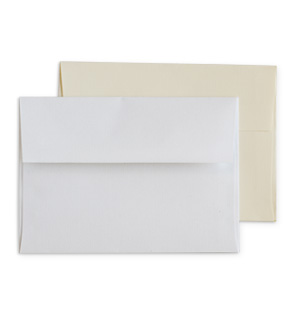 White Linen and Cream Linen Envelopes
