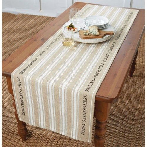 family gathers here table runner