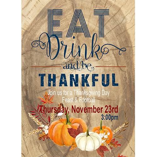 be thankful thanksgiving invitation