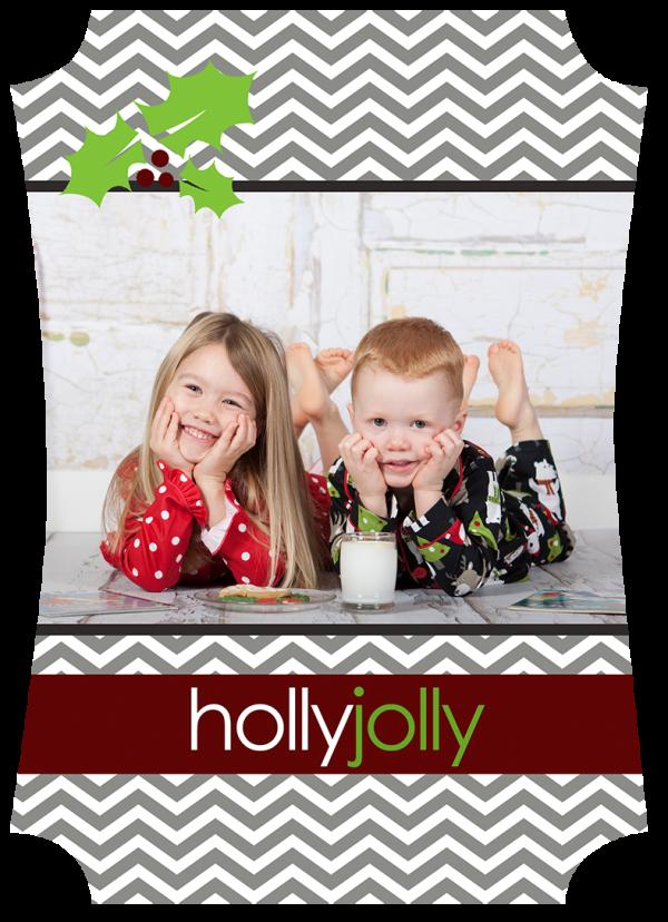 chevron holiday photo card