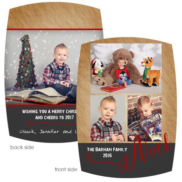 rustic photo greeting card