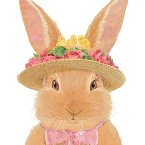 Amelie easter napkin with hat