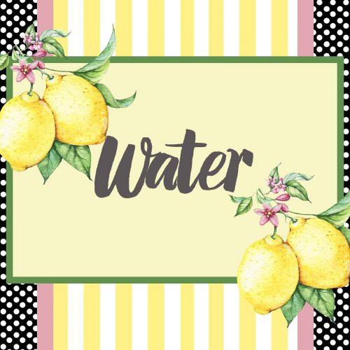 lemon water cooler sign