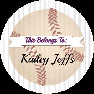 3x3 personalized baseball sticker