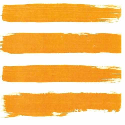 orange stripe beverage napkin