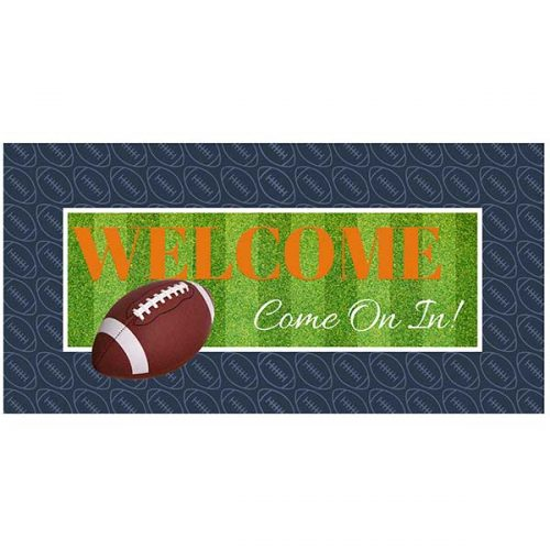 Football graduation welcome sign