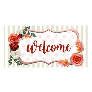 floral shabby chic welcome sign