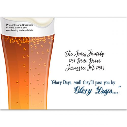 rustic beer party printed envelope