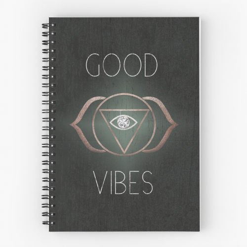 Good Vibes 3rd eye spiritual notebook