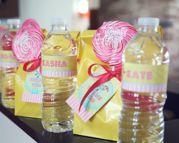 Carnival pink and yellow party theme