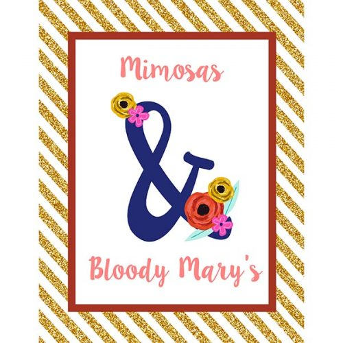 Mimosas and Marys bar sign