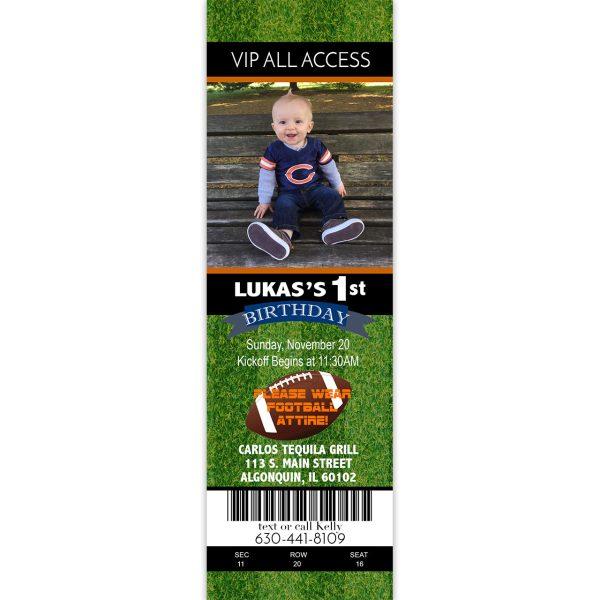 2x7 football ticket invitation
