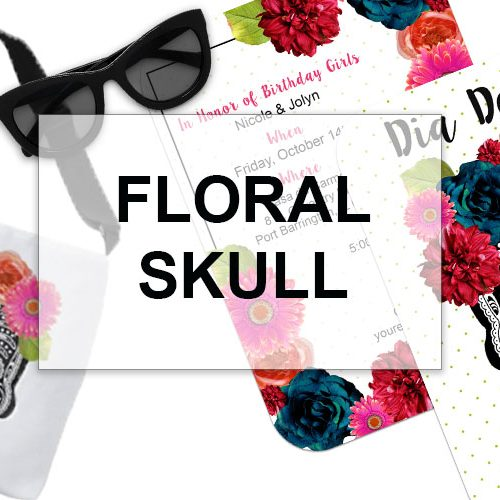 Floral Skull Girl Birthday Collection