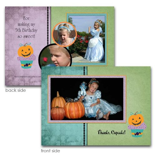 pumpkin thank you card
