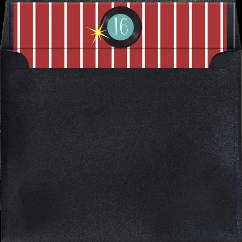 retro cola envelope liner red