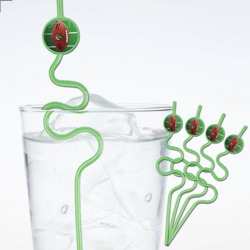 football crazy straws
