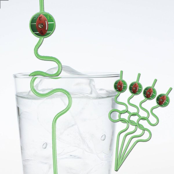football crazy straws
