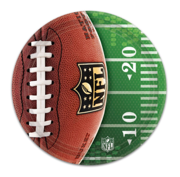 nfl paper plate