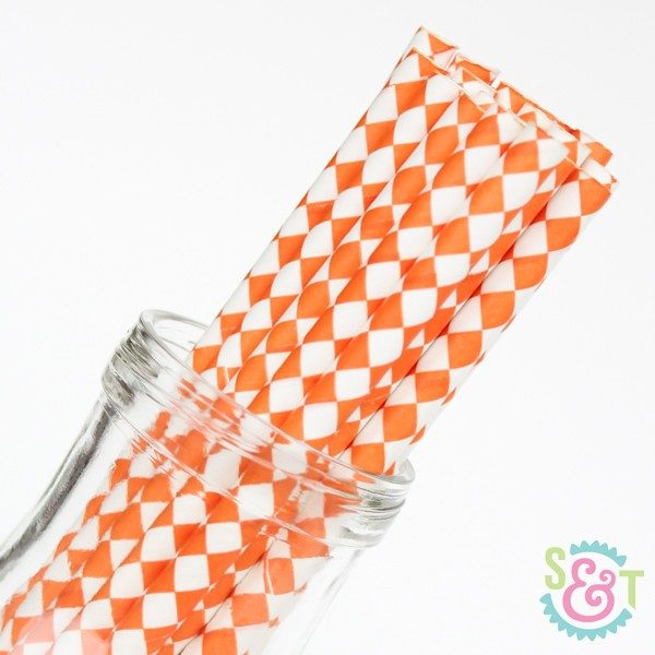 orange diamond straws
