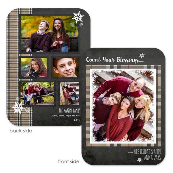burberry plaid holiday greeting card