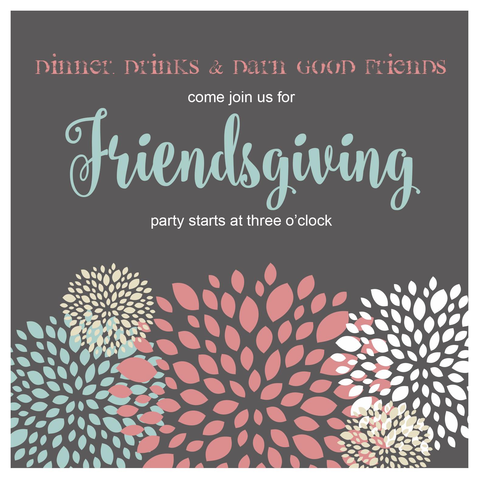 Friendsgiving Pouf Invitation Jennifer Caminiti Photo