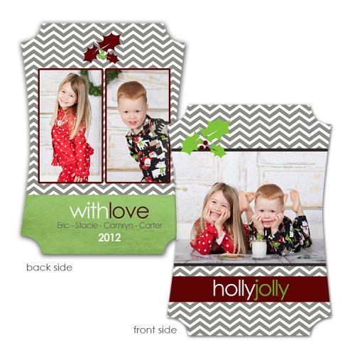 chevron holiday card