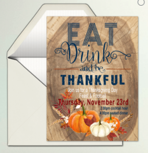 Thanksgiving Evite Invitation