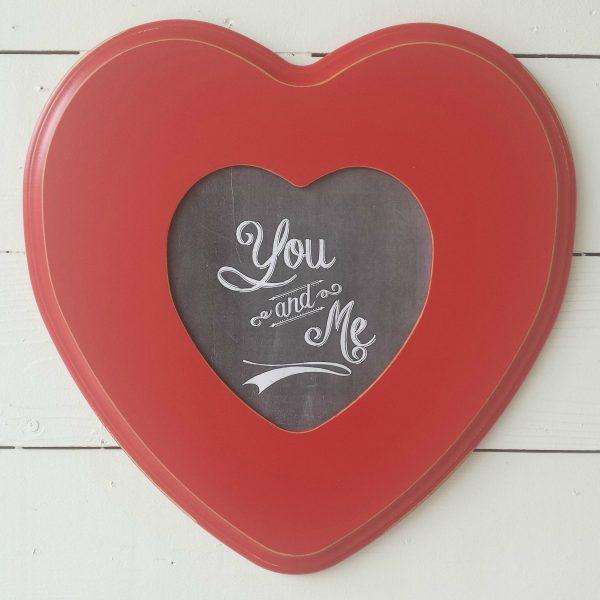 wood heart frame