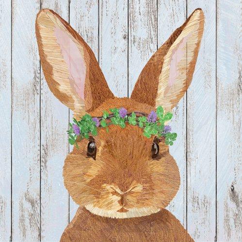 viviam bunny floral napkin